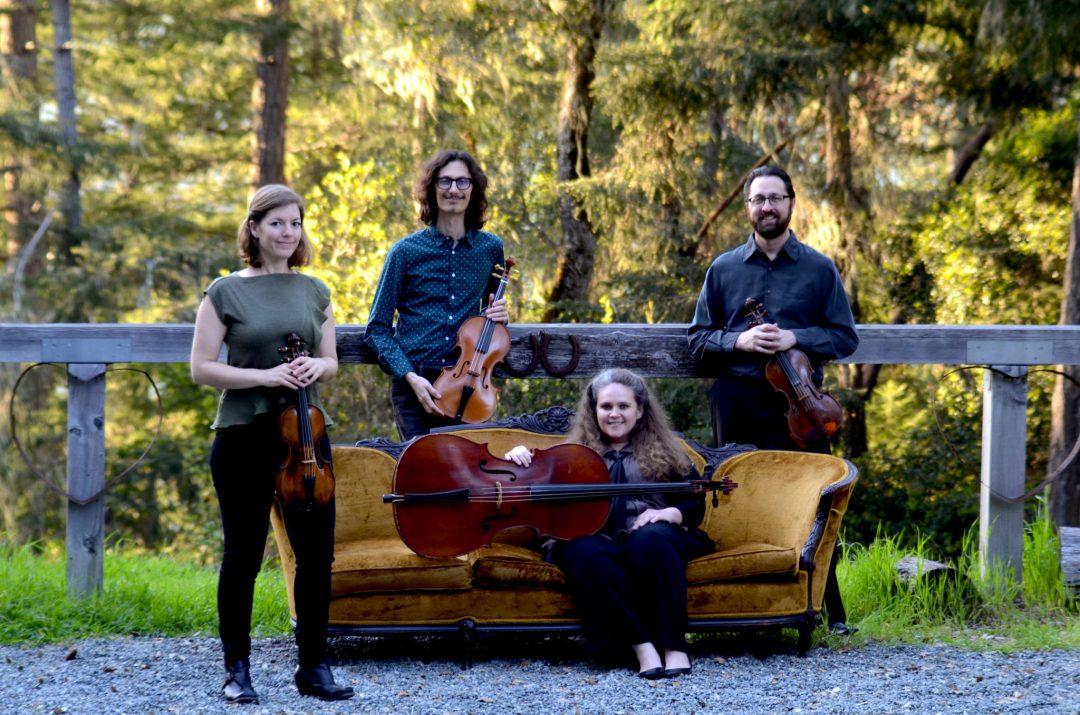 Sylvestris-Quartet_L-R_Anna-Washburn-violin_Aaron-Westman-viola_Gretchen-Claassen-cello_Tyler-Lewis-violin_Photo-Anna-Washburn