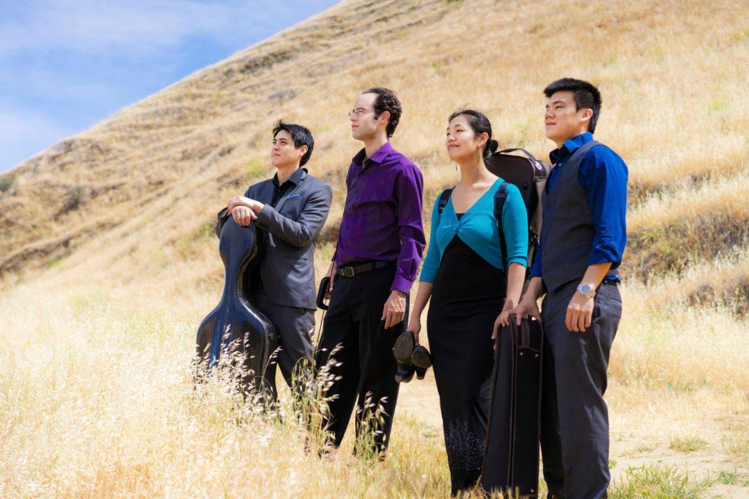 Telegraph-Quartet(L-R)Jeremiah-Shaw(cello)_Joseph-Maile(violin)_Pei-Ling-Lin(viola)_Eric-Chin(violin)_photo-Eric-Chin