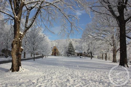 campus in snow H