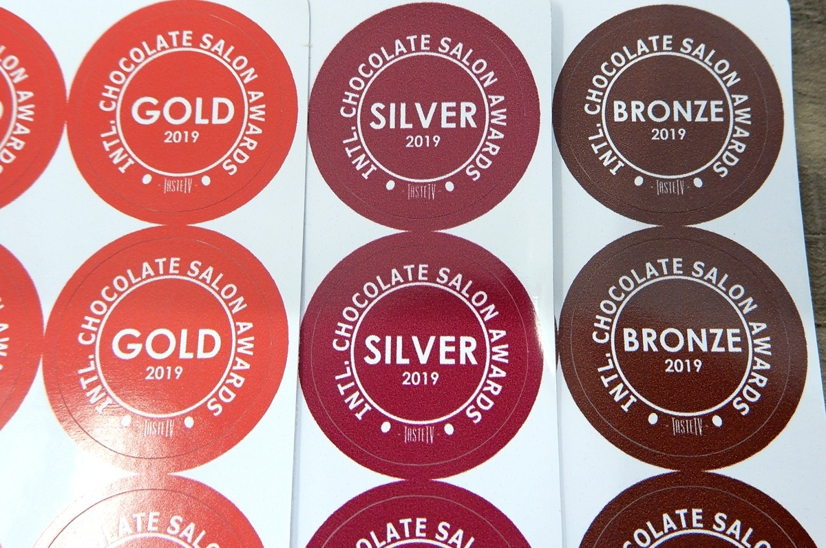 Intl chocolate salon product award stickers now available for 2019