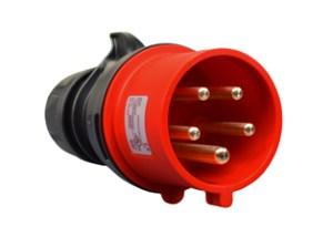 IEC 60309 (6H) (309) 3 PHASE PLUG, SPLASHPROOF (IP44)