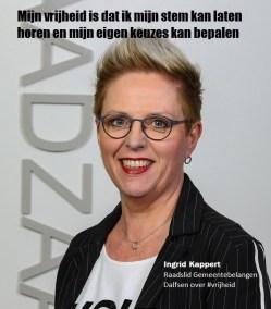 Ingrid Kappert-Raad Gemeente Dalfsen over vrijheid - Internationale Vrouwendag 2020-fotocampagne