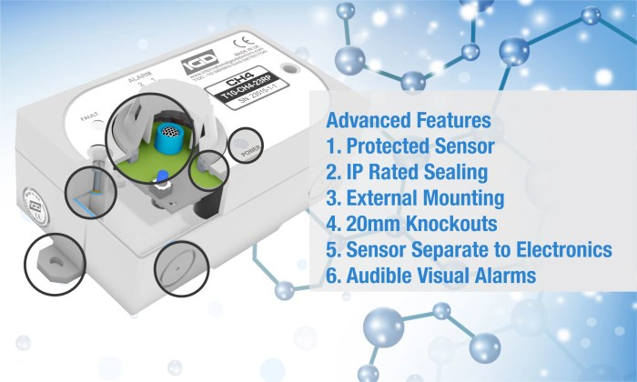 TOC-10 Domestic Gas Detector Features