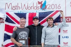 Moth Worlds 2016 podium
