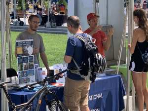 Larkin and Peter answering questions at GreenFest on the Rose Kennedy Greenway in Boston