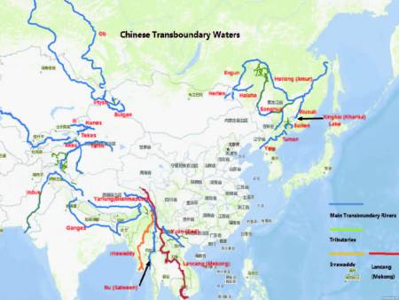 China's Transboundary Waters (from: Wouters & Chen, China's 'soft-path' to transboundary water cooperation examined in the light of two UN Global Water Conventions: exploring the 'Chinese way', Journal of Water Law, Vol. 22(6), pp. 229-247 (2011))