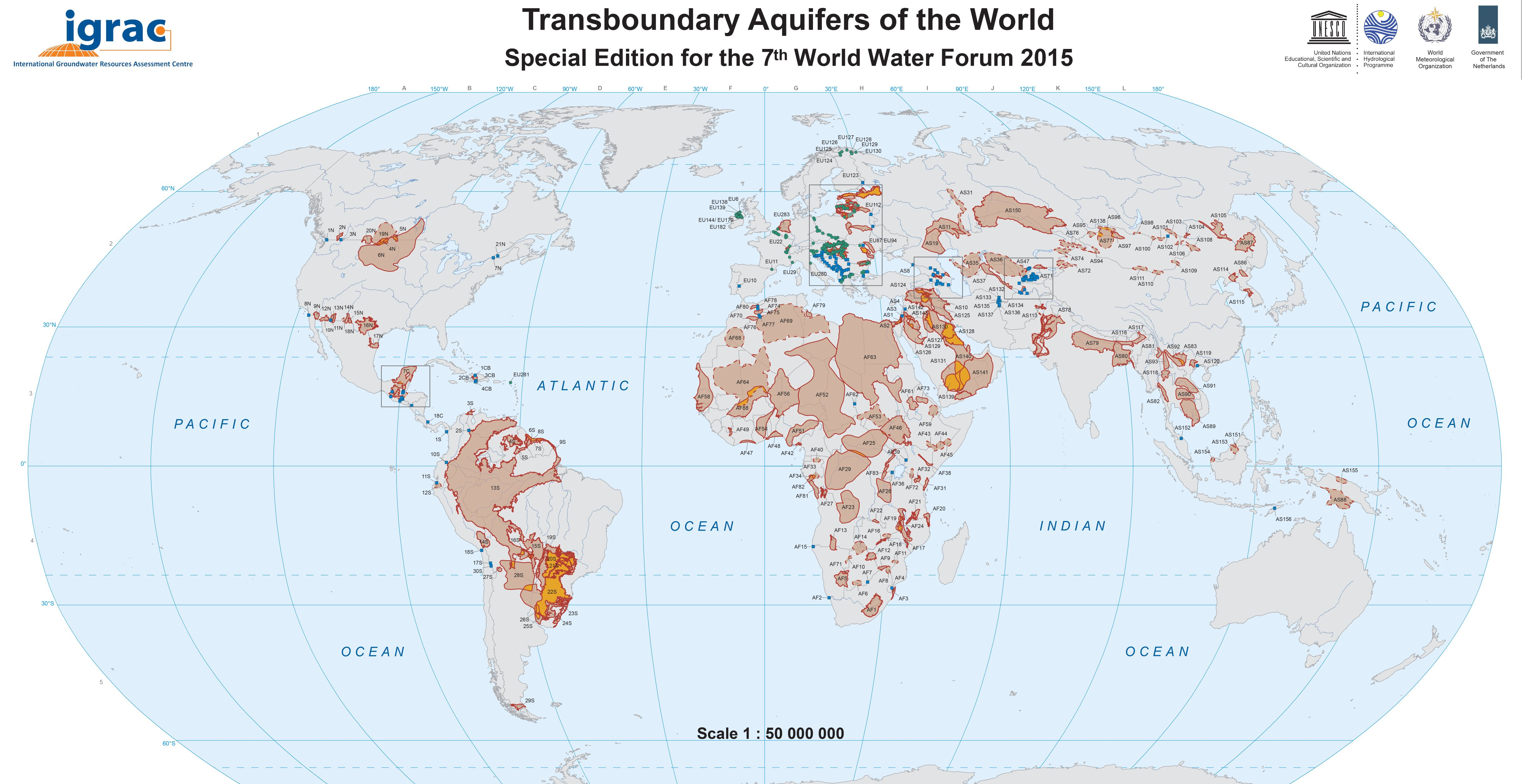 International Water Law Project Blog Transboundary Aquifers - Aquifer oil pollution us map