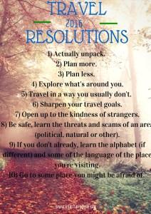Travel Resolutionsfor 2016