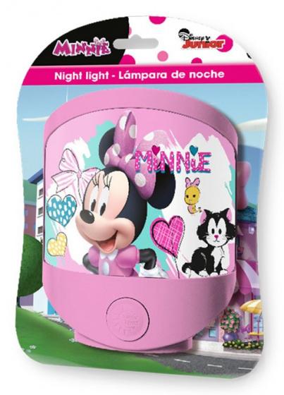nachtlampe minnie mouse gefuhrt madchen 13 5 x 15 cm rosa