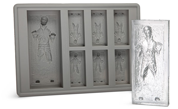e845 han solo ice cube tray Star Wars Han Solo in Carbonite Ice Cube Tray