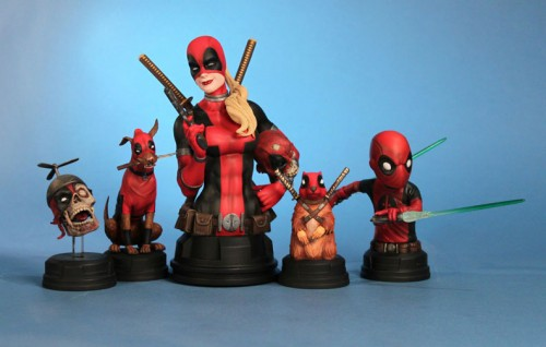 Awesome Deadpool Busts