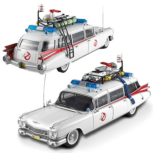 Ghostbusters Ecto-1 Hot Wheels Elite 1:18 Scale Vehicle