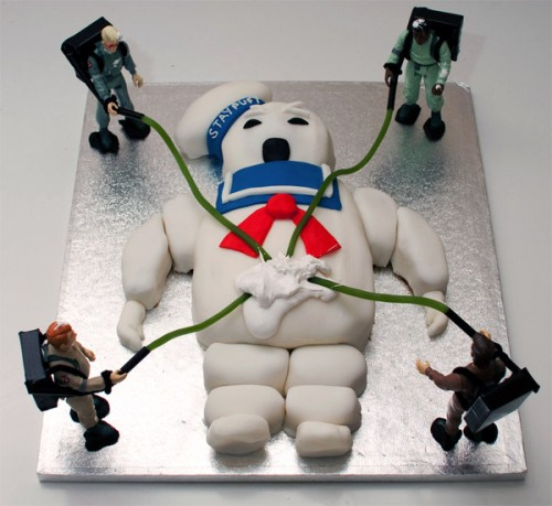 A Ghostbusters Stay Puft Marshmallow ManCake