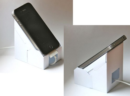 ecopaperiphonedock small The ECO iP4 DIY Paper iPhone Dock