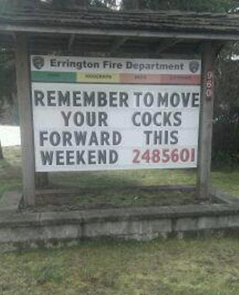 move cocks forward It's that time…