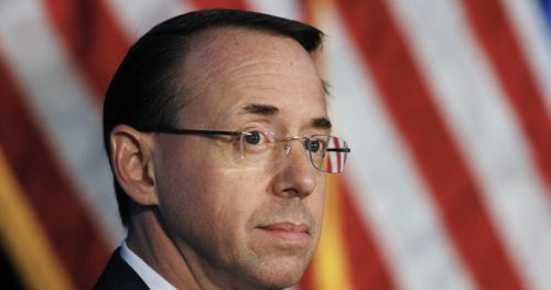 ap 17171520625551 500x263 Deputy Attorney General Rod Rosenstein, who oversees Mueller probe, to leave Justice Department