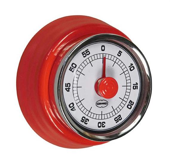 minuterie de cuisine retro 7 5 cm acier rouge