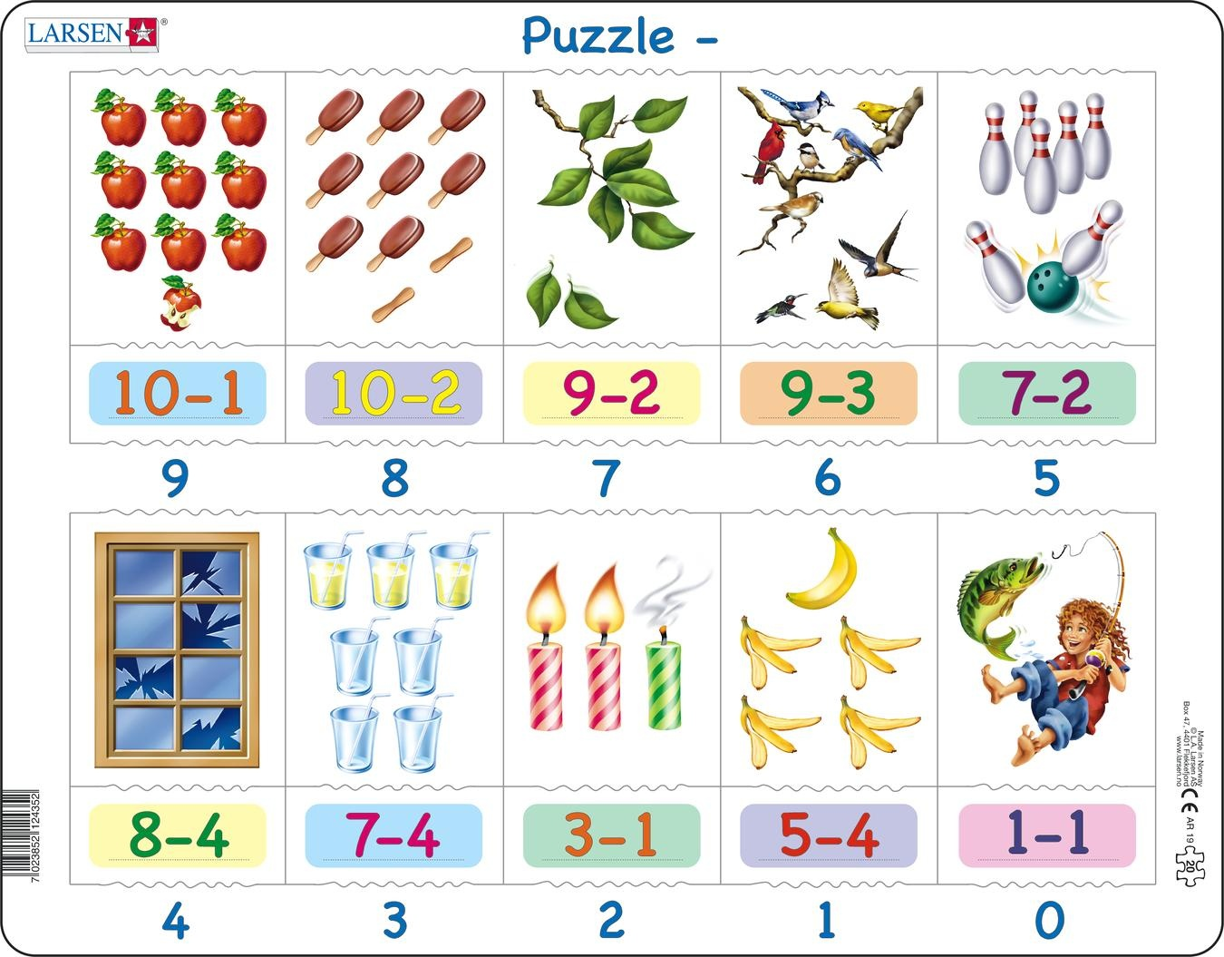 Larsen Jigsaw Puzzle Maxi Learning To Count 20 Pieces