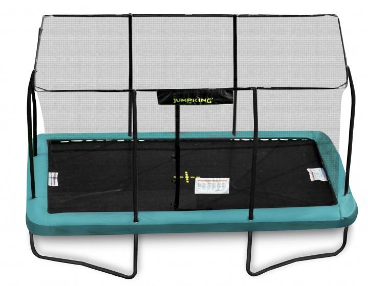 trampolin mit netz und leiter rechteckig 426 x 305 cm grun 2016