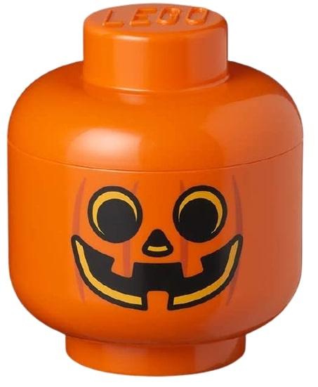 boite de rangement tete de citrouille petite 16 x 18 5 cm pp orange