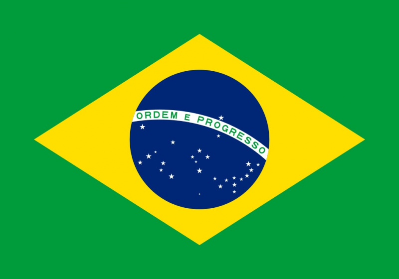 drapeau du pays brazilie150 cm polyester vert jaune bleu