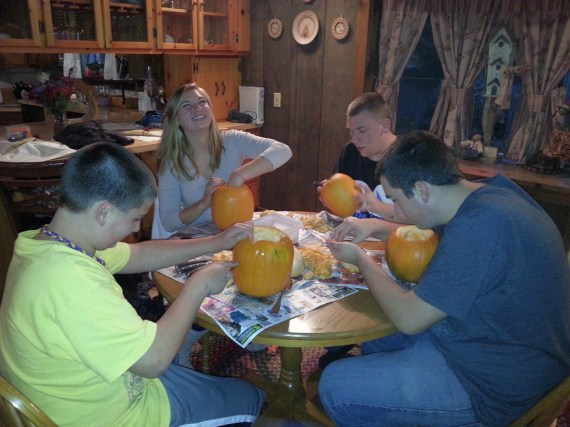Kids had a great time carving