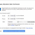 Google agenda welkom stap 3