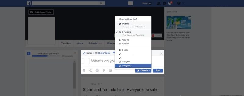 Facebook Secret Posts
