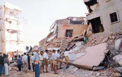 an image of buildings damaged by the Gujarat earthquake