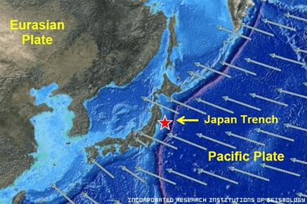 2011 Japan Earthquake Map