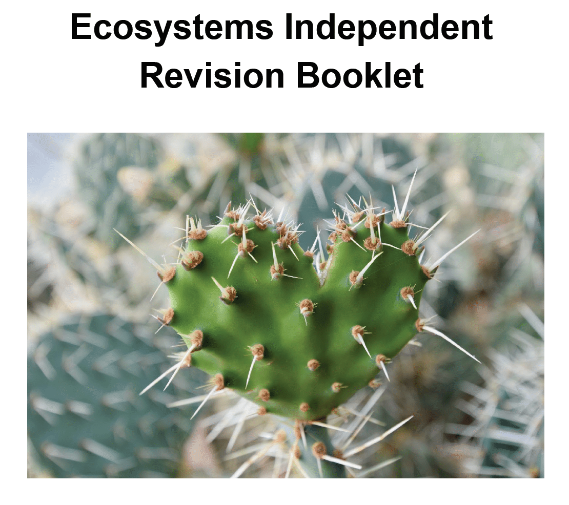 Ecosystems Independent Revision