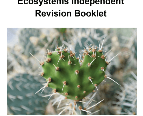 Ecosystems Independent Revision Booklet