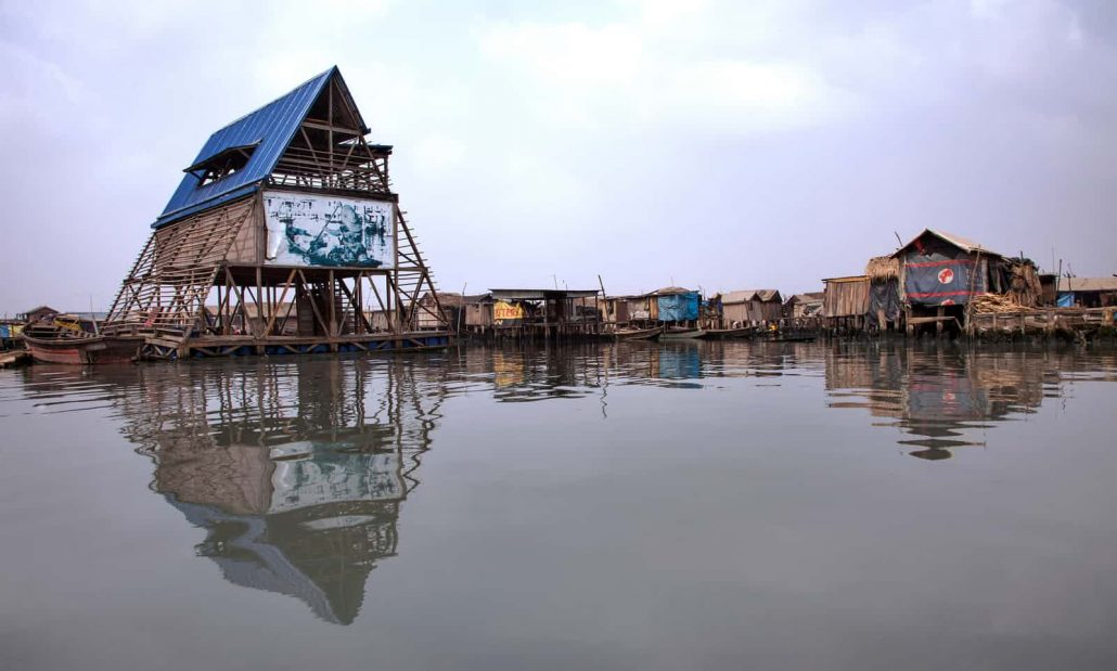 Makoko Floating School. Photograph: Andrew Esiebo for the Guardian