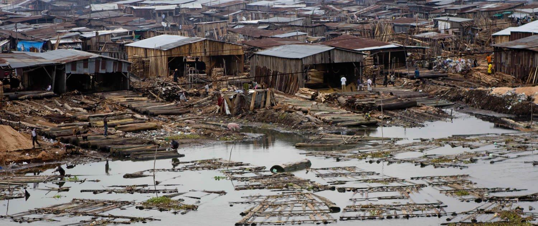 Makoku squatter settlement, Lagos.