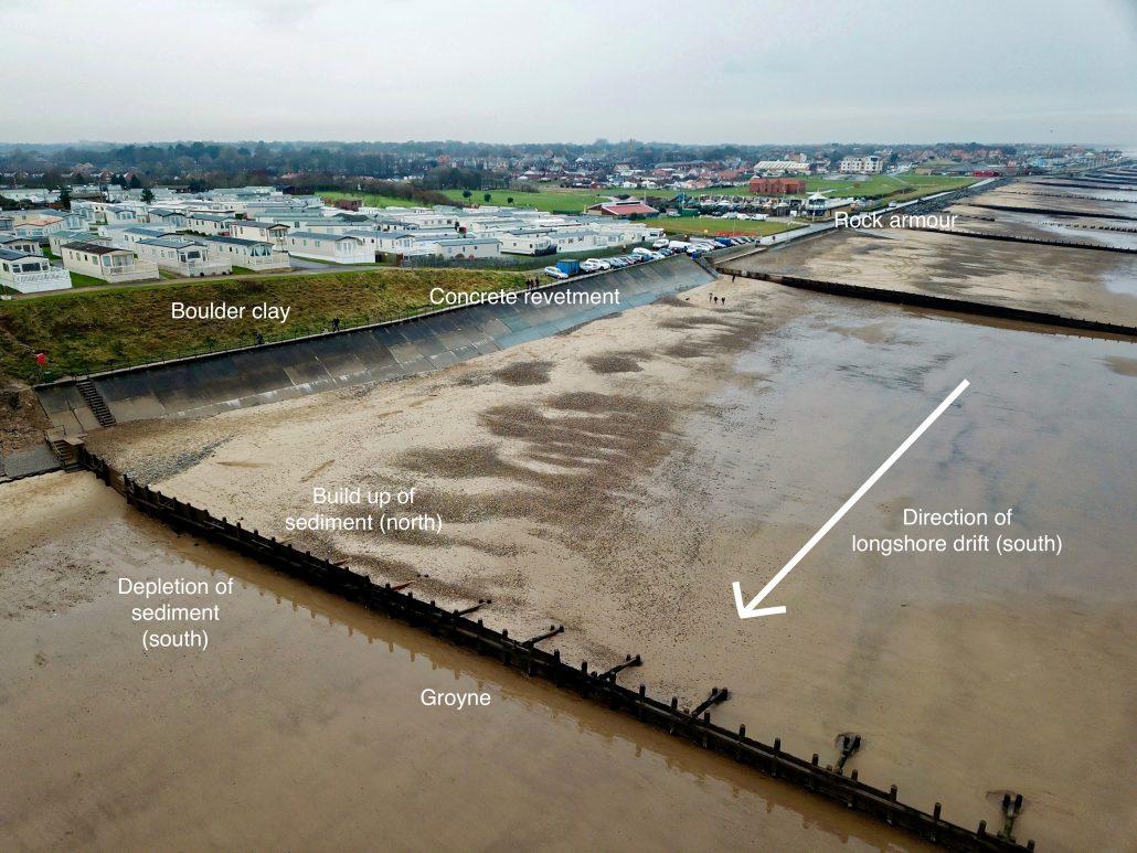 Sea defences at Hornsea