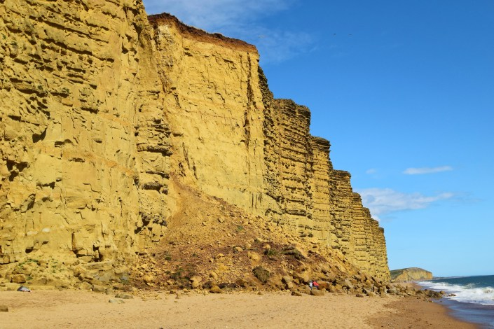 Landslide at West Bay, Dorset.