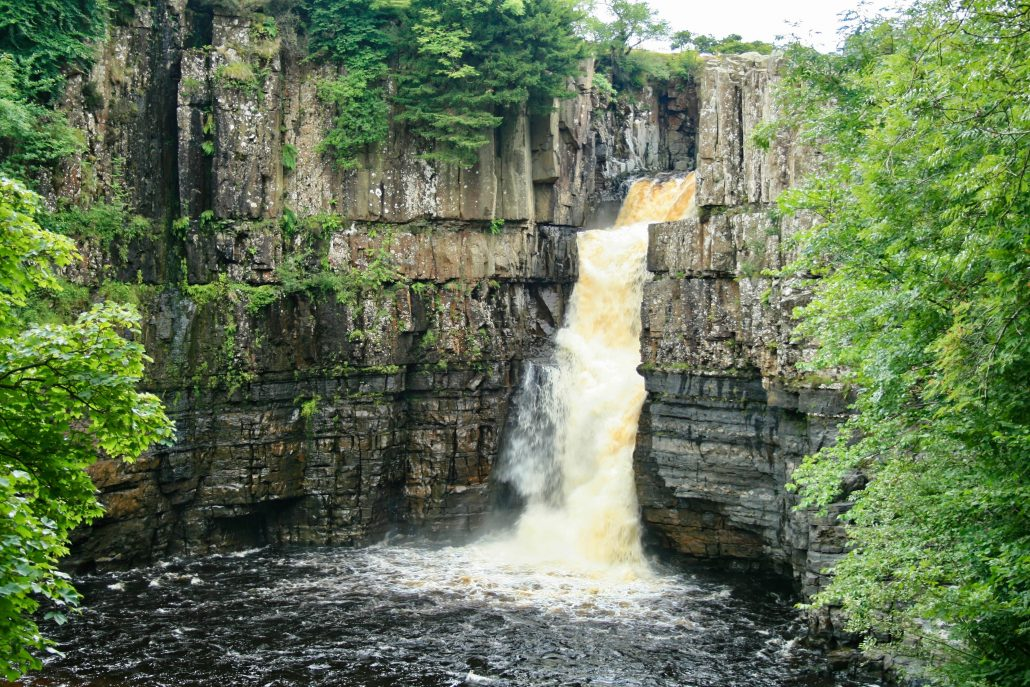 High Force waterfall on the River Tees.