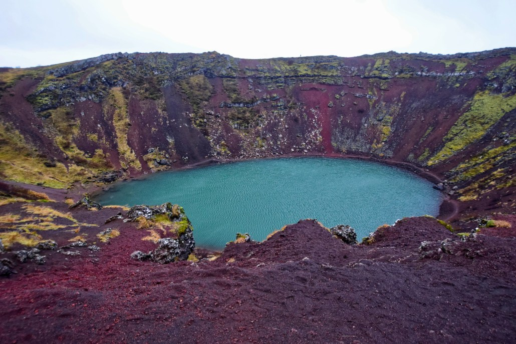 Kerid Crater, Iceland.