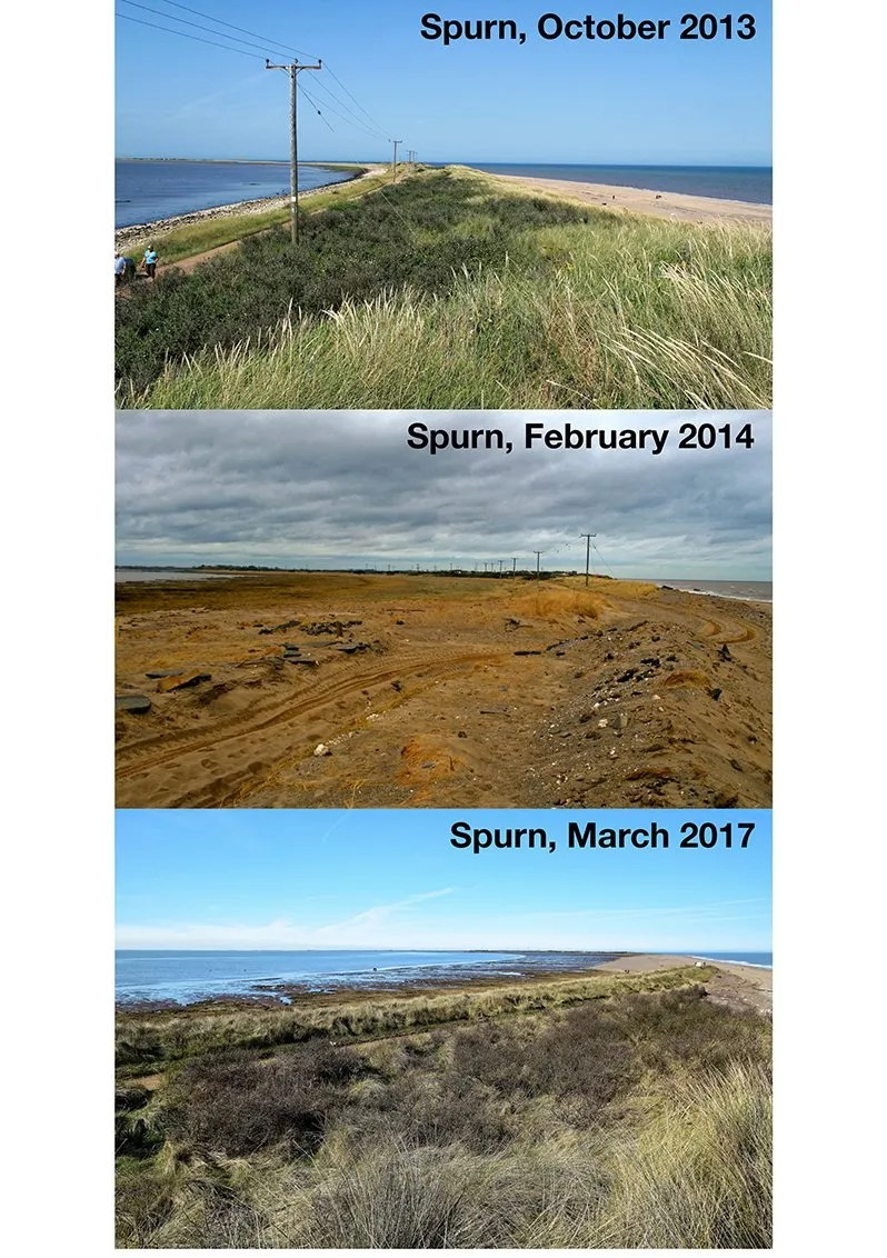 Spurn - before and after the 2013 tidal surge