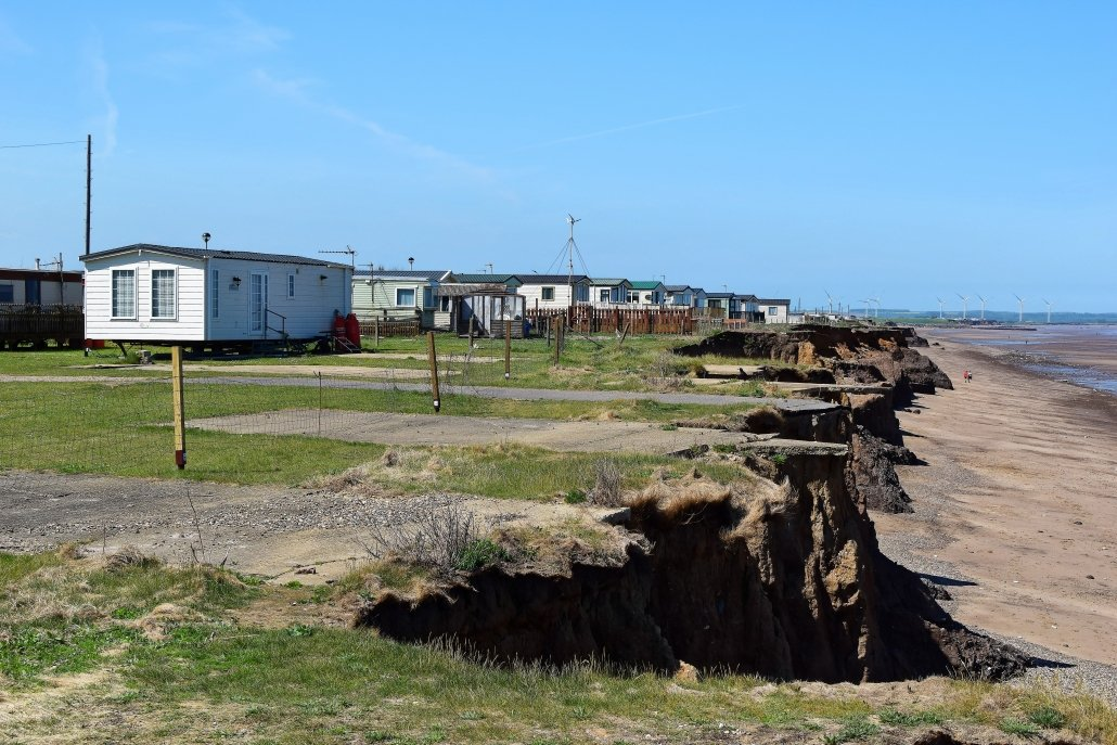 Coastal erosion at Skipsea