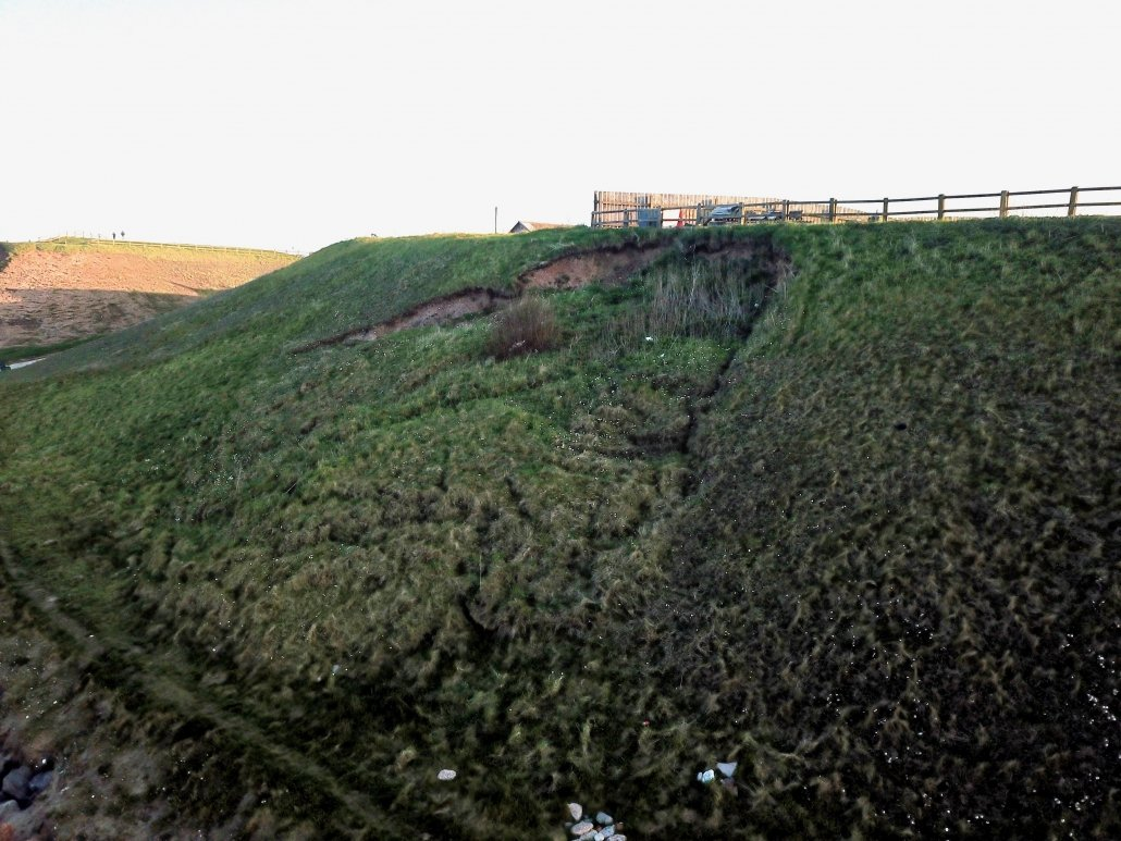 A mud slide at Mappleton