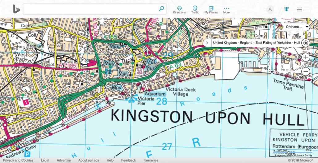 OS map on Bing