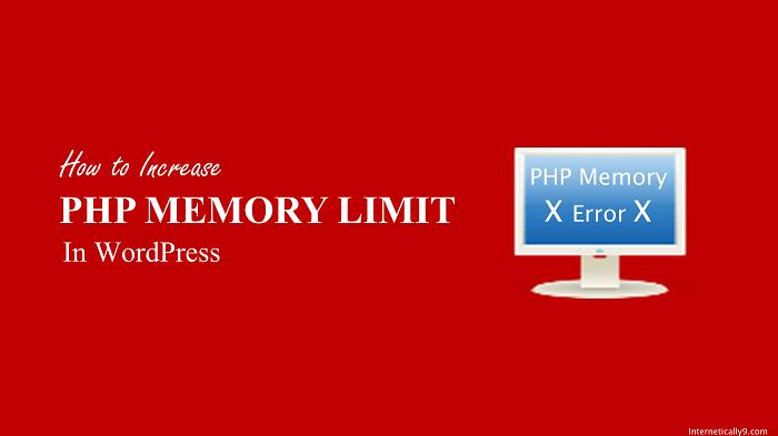 PHP memory limit error