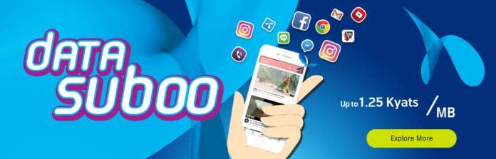 Telenor Myanmar SuBoo Internet Pack Data 4G LTE