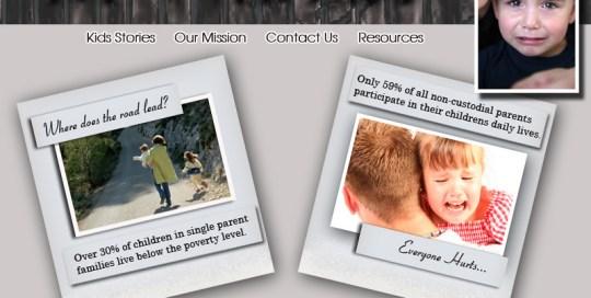 Left over kids website design mock up.