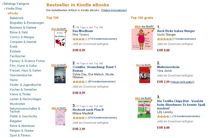 Kindle E-Book Bestseller