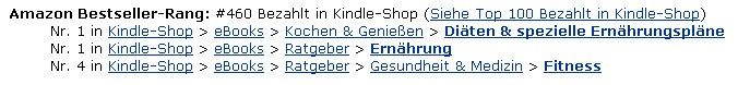 Kindle E-Books zwei Kategorien