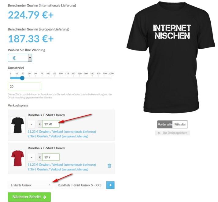 Nebenbei Geld verdienen mit T-Shirts