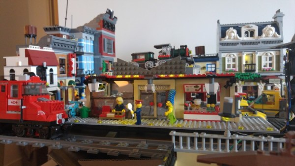 Raspberry Pi and javascript controlled train station.