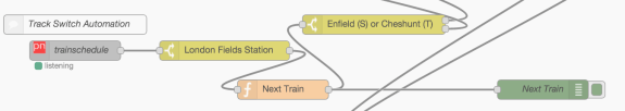 Track Switch Automation - Node-RED